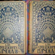 Libros de segunda mano: GUSTAVE LE BON. LAS CIVILIZACIONES DE LA INDIA. 1901. Lote 46912706