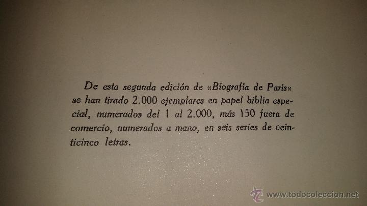 Libros de segunda mano: BIOGRAFIA DE PARIS,EDUARDO AUNOS,EDICION LUJO,ENCUADERNADA EN PIEL,AUTOGRAFIADA POR FERNANDO AUNOS - Foto 5 - 46947520