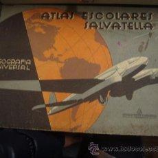 Libros de segunda mano: ATLAS ESCOLARES SALVATELLA - GEOGRAFIA UNIVERSAL . Lote 48767646