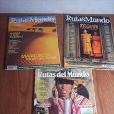 Libros de segunda mano: LOTE DE 3 REVISTAS RUTAS DEL MUNDO Nº 84 - 163 - 203. Lote 49027104