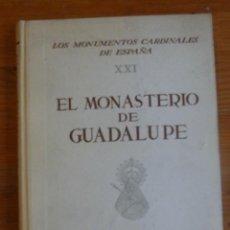 Libros de segunda mano: EL MONASTERIO DE GUADALUPE. CARLOS CALLEJO. ED. PLUS ULTRA 1958 158 PAG. Lote 49580868
