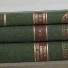 Libros de segunda mano: LA TIERRA. GEOGRAFÍA FÍSICA, ECONÓMICA, HISTÓRICA. ATLAS. HISTORIA DE LOS DESCUBRIMIENTOS. 3 TOMOS. Lote 49787460