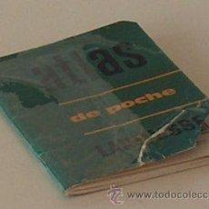 Libros de segunda mano: ATLAS DE POCHE LAROUSSE 1960 64 PAGINAS EN FRANCES. Lote 211256419