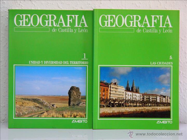 GEOGRAFÍA DE CASTILLA Y LEÓN, EDITORIAL ÁMBITO. VALLADOLID 1988-. 10 TOMOS. OBRA COMPLETA (Libros de Segunda Mano - Geografía y Viajes)