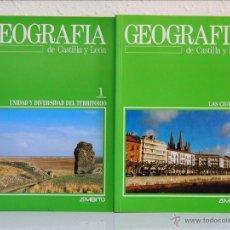 Libros de segunda mano: GEOGRAFÍA DE CASTILLA Y LEÓN, EDITORIAL ÁMBITO. VALLADOLID 1988-. 10 TOMOS. OBRA COMPLETA. Lote 50574328