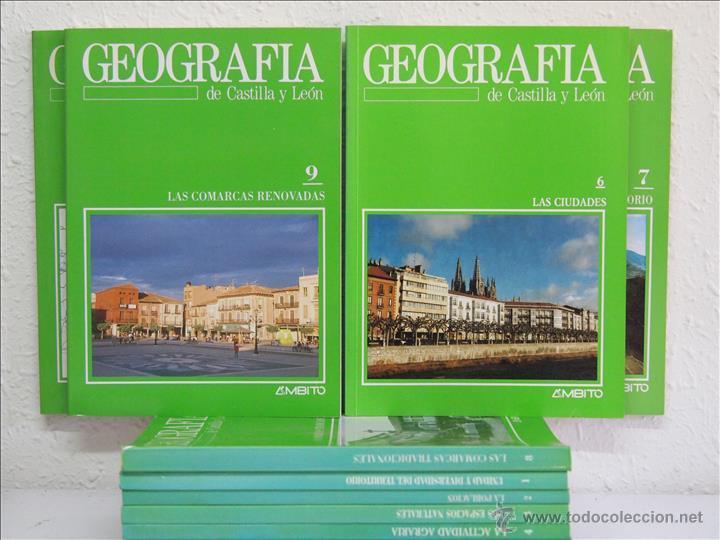 Libros de segunda mano: Geografía de Castilla y León, editorial Ámbito. Valladolid 1988-. 10 tomos. Obra completa - Foto 2 - 50574328