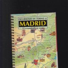 Libros de segunda mano: EXCURSIONES EN TORNO A MADRID 52 ESCAPADAS DE DIN DE SEMANA. Lote 50617574