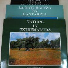 Libros de segunda mano: LOTE LIBROS NATURALEZA EN ESPAÑA (CANTABRIA, EXTREMADURA E ISLAS CANARIAS). Lote 50934136