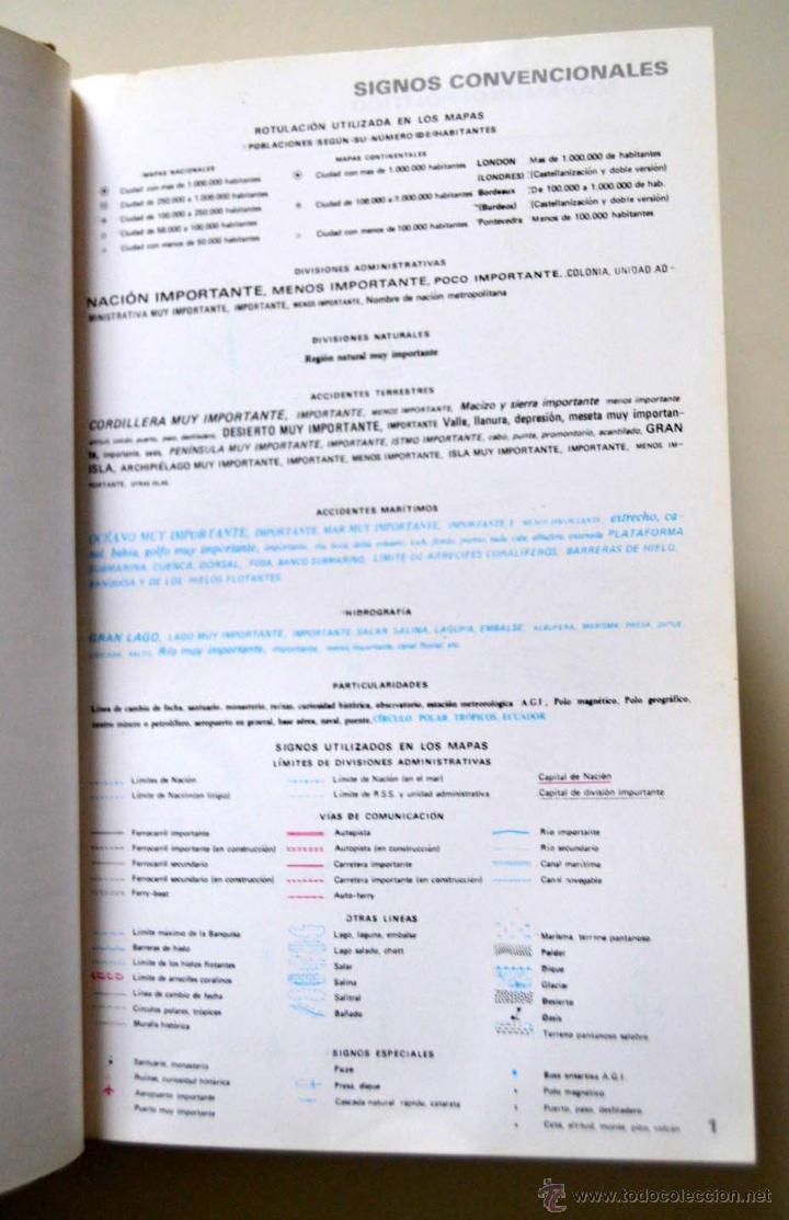 Libros de segunda mano: ATLAS UNIVERSAL EL LIBRO AGUILAR * AÑOS 80 - Foto 3 - 51946623