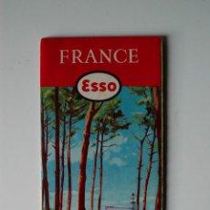 Libros de segunda mano: ANTIGUO MAPA DE FRANCIA ESSO STANDARD SOCIETE ANONYME FRANÇAISE 1957, FRANCE ILLUSTREE. Lote 52304494