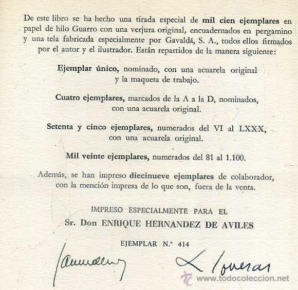 Libros de segunda mano: JAIME DEL BURGO : NAVARRA (1972) EDICIÓN DE LUJO, NUMERADO Y FIRMADO POR AUTOR E ILUSTRADOR - Foto 3 - 52345005
