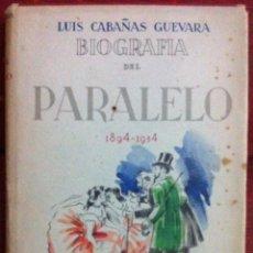 Libros de segunda mano: LUIS CABAÑAS GUEVARA. BIOGRAFÍA DEL PARALELO. 1943. Lote 53303599