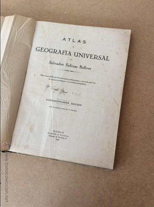 Libros de segunda mano: ATLAS GEOGRÁFICO UNIVERSAL - Foto 3 - 53462763