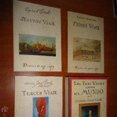 Libros de segunda mano: LOS TRES VIAJES A TRAVES DEL MUNDO CAPITAN JAMES COOK DIARIOS 1768-1780 3 TOMOS + CAJA VER FOTOS. Lote 53745965