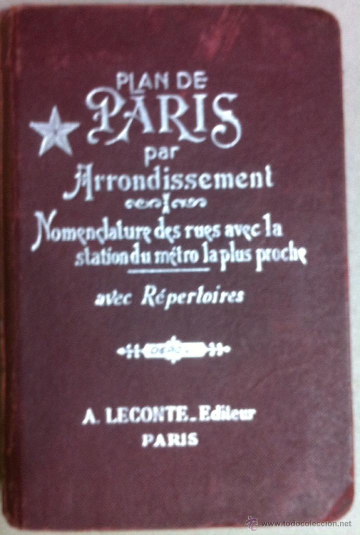 Plan De Paris Par Arrondissement 1955