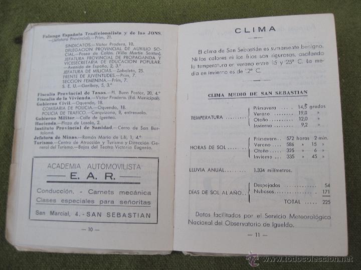 Libros de segunda mano: GUIA PLANO DE SAN SEBASTIAN. - Foto 3 - 55134659