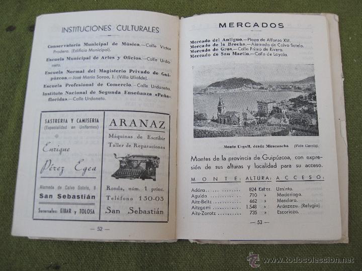 Libros de segunda mano: GUIA PLANO DE SAN SEBASTIAN. - Foto 6 - 55134659
