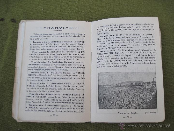 Libros de segunda mano: GUIA PLANO DE SAN SEBASTIAN. - Foto 7 - 55134659
