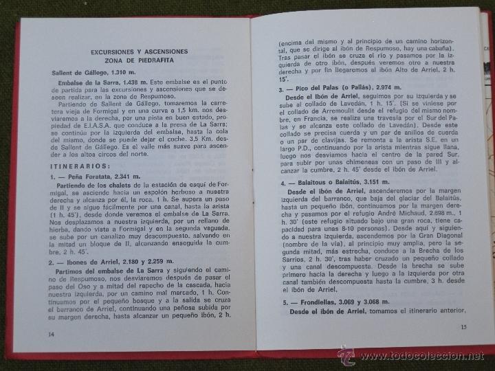 Libros de segunda mano: PIRINEO ARAGONES - VALLE DE TENA - PANTICOSA - FORMIGAL - BALAITUS - LA FAXA - INFIERNO ... - Foto 3 - 55136242