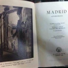 Libros de segunda mano: SAINZ DE ROBLES. MADRID. AUTOBIOGRAFÍA. 1949. Lote 55244298