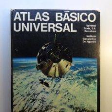 Libros de segunda mano: ATLAS BÁSICO UNIVERSAL - INSTITUTO GEOGRÁFICO DE AGOSTINI - TEIDE - 1977. Lote 55913786