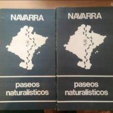 Libros de segunda mano: NAVARRA. PASEOS NATURALISTICOS 1 Y 2. DOS ARCHIVADORES. Lote 222726322