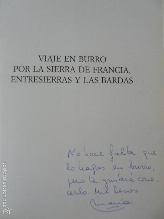 Libros de segunda mano: VIAJE EN BURRO POR LA SIERRA DE FRANCIA ENTRESIERRAS Y LAS BARDAS. RAMON GRANDE DEL BRIO. - Foto 7 - 56475432