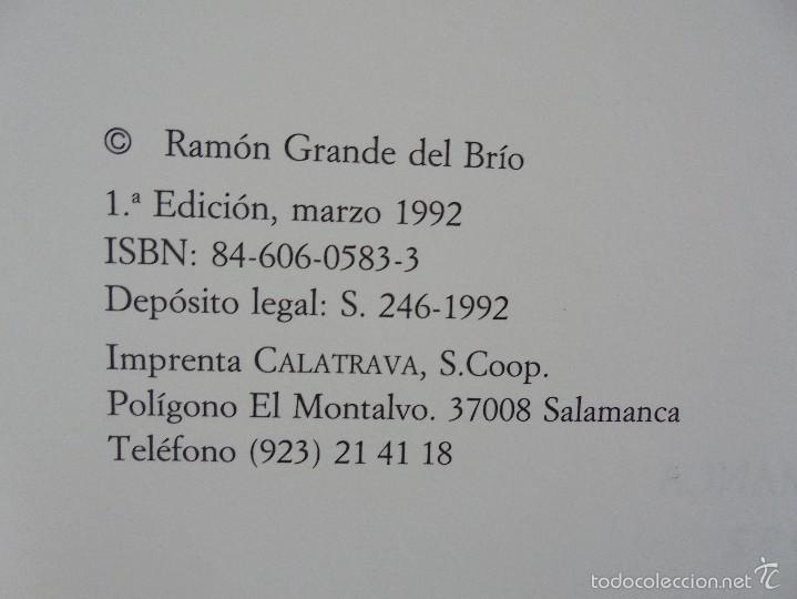 Libros de segunda mano: VIAJE EN BURRO POR LA SIERRA DE FRANCIA ENTRESIERRAS Y LAS BARDAS. RAMON GRANDE DEL BRIO. - Foto 9 - 56475432