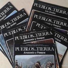 Libros de segunda mano: LOTE 8 EJEMPLARES COLECCIÓN PUEBLOS DE LA TIERRA -- LOS ANDES, AMAZONIA Y PAMPAS, AFRICA TROPICAL. Lote 57321091