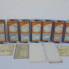 Libros de segunda mano: 12 MAPAS ANTIGUOS. 7 MAPAS DE MICHELIN ENTELADOS. EL NUEVO BALON MICHELIN. TODOS FOTOGRAFIADOS.. Lote 57615464