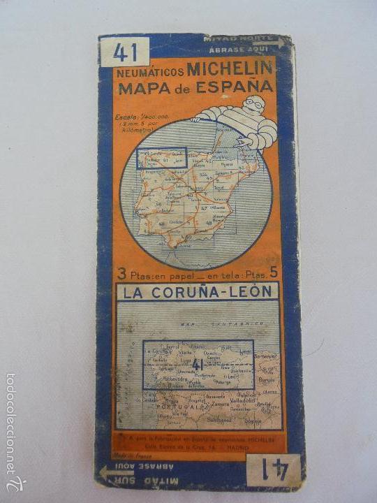 Libros de segunda mano: 12 MAPAS ANTIGUOS. 7 MAPAS DE MICHELIN ENTELADOS. EL NUEVO BALON MICHELIN. TODOS FOTOGRAFIADOS. - Foto 29 - 57615464