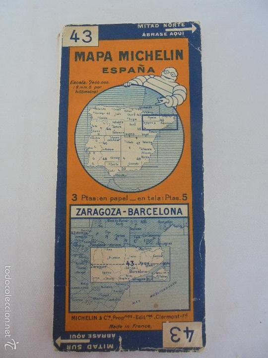 Libros de segunda mano: 12 MAPAS ANTIGUOS. 7 MAPAS DE MICHELIN ENTELADOS. EL NUEVO BALON MICHELIN. TODOS FOTOGRAFIADOS. - Foto 31 - 57615464