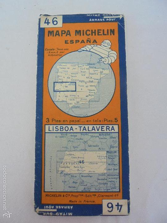 Libros de segunda mano: 12 MAPAS ANTIGUOS. 7 MAPAS DE MICHELIN ENTELADOS. EL NUEVO BALON MICHELIN. TODOS FOTOGRAFIADOS. - Foto 35 - 57615464