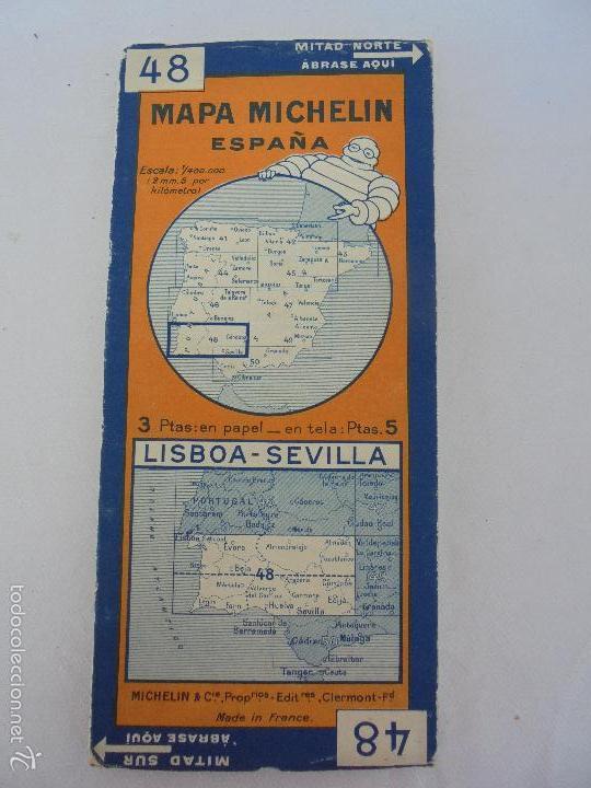 Libros de segunda mano: 12 MAPAS ANTIGUOS. 7 MAPAS DE MICHELIN ENTELADOS. EL NUEVO BALON MICHELIN. TODOS FOTOGRAFIADOS. - Foto 37 - 57615464