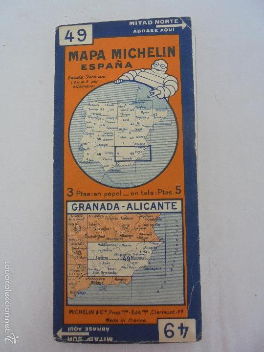 Libros de segunda mano: 12 MAPAS ANTIGUOS. 7 MAPAS DE MICHELIN ENTELADOS. EL NUEVO BALON MICHELIN. TODOS FOTOGRAFIADOS. - Foto 39 - 57615464