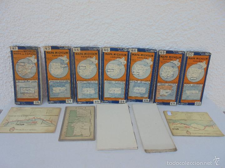 Libros de segunda mano: 12 MAPAS ANTIGUOS. 7 MAPAS DE MICHELIN ENTELADOS. EL NUEVO BALON MICHELIN. TODOS FOTOGRAFIADOS. - Foto 43 - 57615464