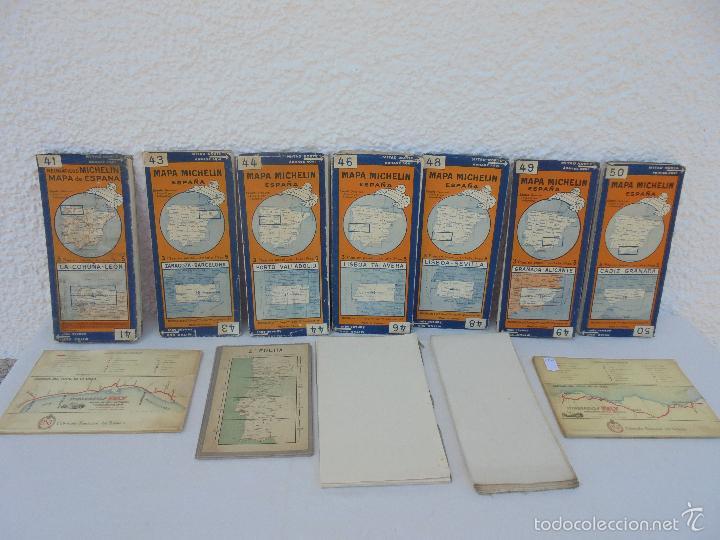 Libros de segunda mano: 12 MAPAS ANTIGUOS. 7 MAPAS DE MICHELIN ENTELADOS. EL NUEVO BALON MICHELIN. TODOS FOTOGRAFIADOS. - Foto 44 - 57615464