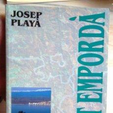 Libros de segunda mano: L'ALT EMPORDÀ. JOSEP PLAYÀ. LES COMARQUES DE CATALUNYA 1992 1A ED MOLT BON ESTAT V FOTO. Lote 57791286