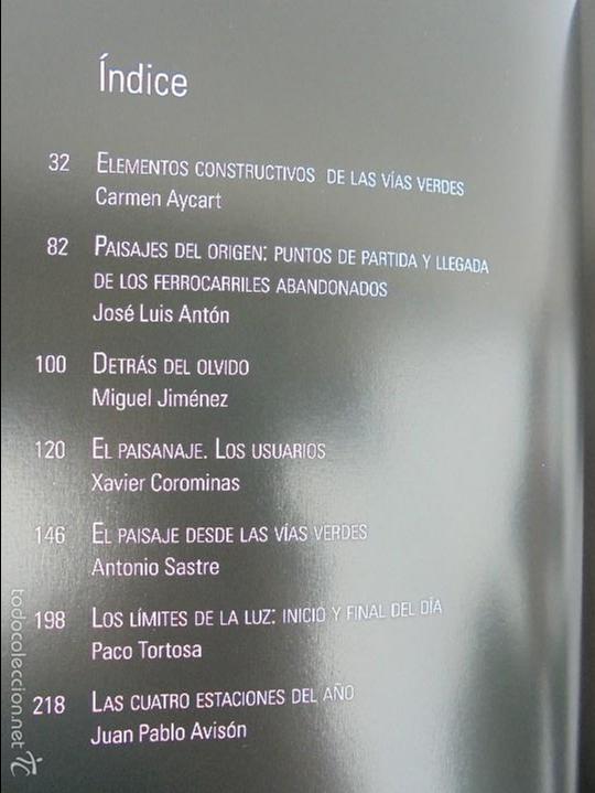 Libros de segunda mano: PAISAJES Y SENSACIONES VIAS VERDES DE ESPAÑA Y PORTUGAL. LANDSCAPES AND SENSATIONS. VER FOTOS. - Foto 10 - 57962130