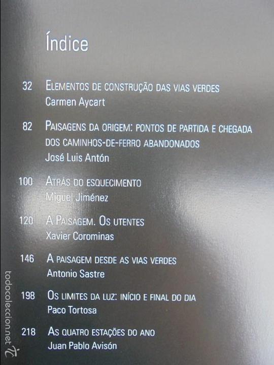 Libros de segunda mano: PAISAJES Y SENSACIONES VIAS VERDES DE ESPAÑA Y PORTUGAL. LANDSCAPES AND SENSATIONS. VER FOTOS. - Foto 11 - 57962130