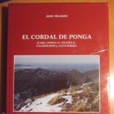 Libros de segunda mano: EL CORDAL DE PONGA. (CASO, PONGA O., PILOÑA S., VALDEBURON Y ALTO PORMA). JUAN DELGADO. GIJON, 1988.. Lote 103782031