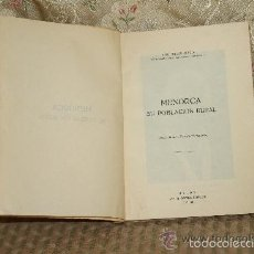 Libros de segunda mano: 3334-MENORCA SU POBLACION RURAL. JEIME FERRER ALEDO. IMP. SINTES ROTGER. 1958.. Lote 71923986
