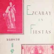 Libros de segunda mano: FIESTAS DE SAN LORENZO. EZCARAY. 1952. ARTÍCULOS Y PUBLICIDAD LOCAL (TEMA LOCAL. RIOJA) . Lote 58494827