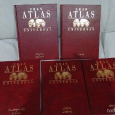 Libros de segunda mano: GRAN ATLAS UNIVERSAL 5 TOMOS. Lote 58674472