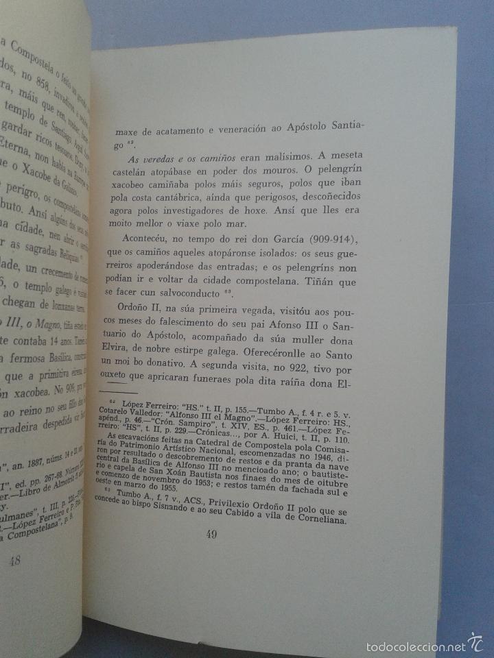 Libros de segunda mano: A Pelengrinaxe ao Xacobe de Galicia. Xesús Carro. Año 1965. - Foto 3 - 59037695