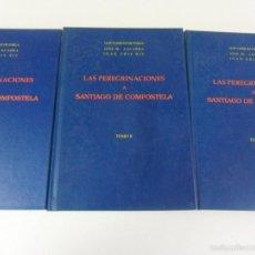 Libros de segunda mano: LAS PEREGRINACIONES A SANTIAGO DE COMPOSTELA. 3 TOMOS. LUIS VAZQUEZ DE PARGA - JOSE Mª LACARRA - JUA. Lote 59954647