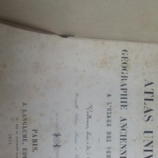 Libros de segunda mano: ATLAS UNIVERSEL ANCIENNE ET MODERNE 1851/ ATLAS UNIVERSAL FRANCES ANTIGUO Y MODERNO 1851. Lote 61423841
