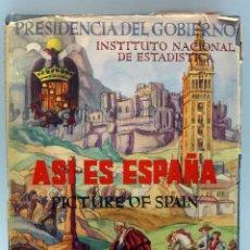 Libros de segunda mano: ASÍ ES ESPAÑA PICTURE OF SPAIN INSTITUTO NACIONAL ESTADÍSTICA DEDICADO ALEJANDRO RODRÍGUEZ VALCÁRCEL. Lote 62883724