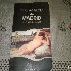 Libros de segunda mano: GUIA SECRETA DE MADRID, . Lote 64512471