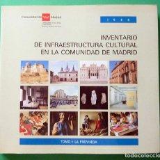 Libros de segunda mano: INVENTARIO DE INFRAESTRUCTURA CULTURAL EN LA COMUNIDAD DE MADRID, TOMO I : LA PROVINCIA - 1986. Lote 66792150